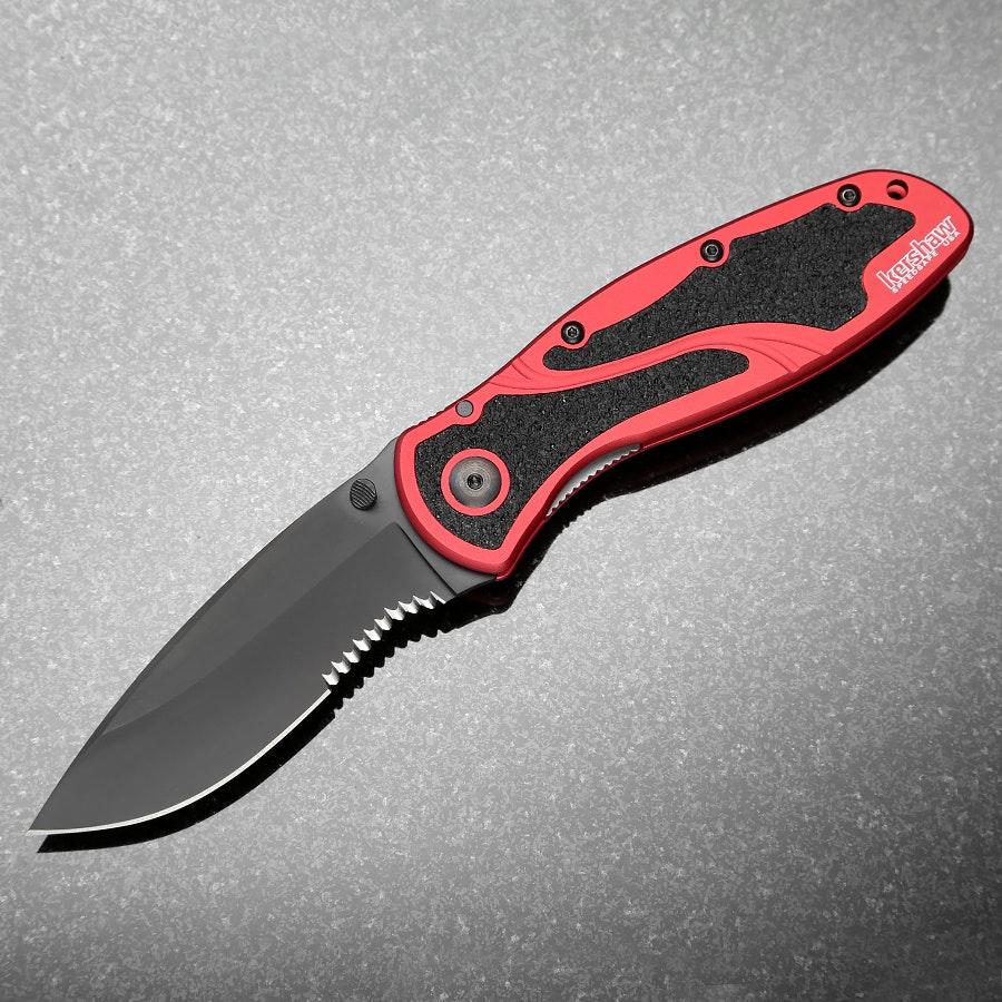 Kershaw Blur Black & Red Handle