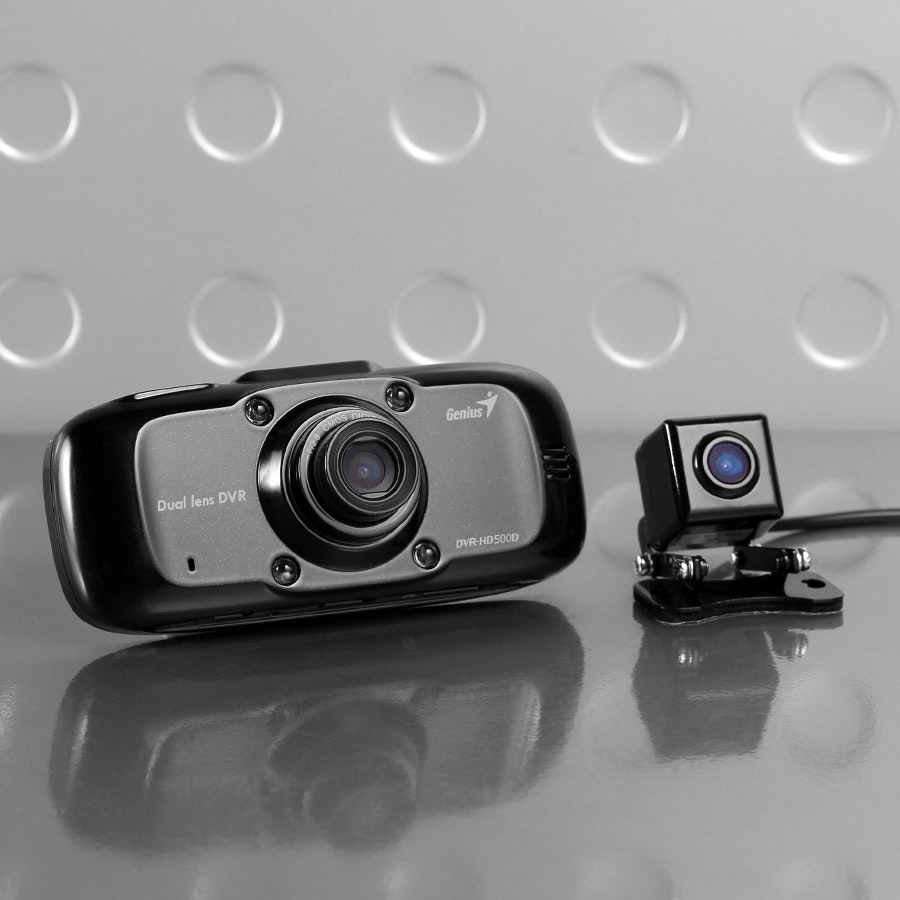 Genius DVR-HD500D Dual Channel Dash Camera