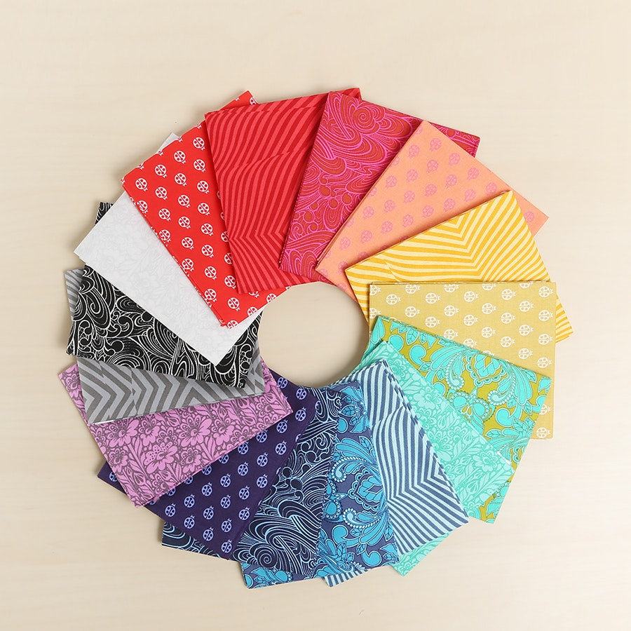 True Colors by Tula Pink Fat Quarter Bundle