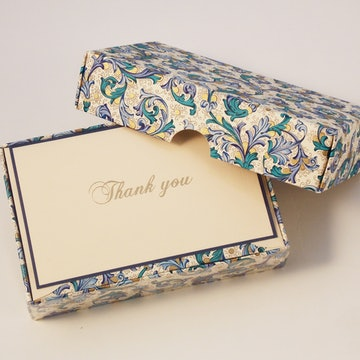 Traditional Blue Florentine - Thank You Cards
