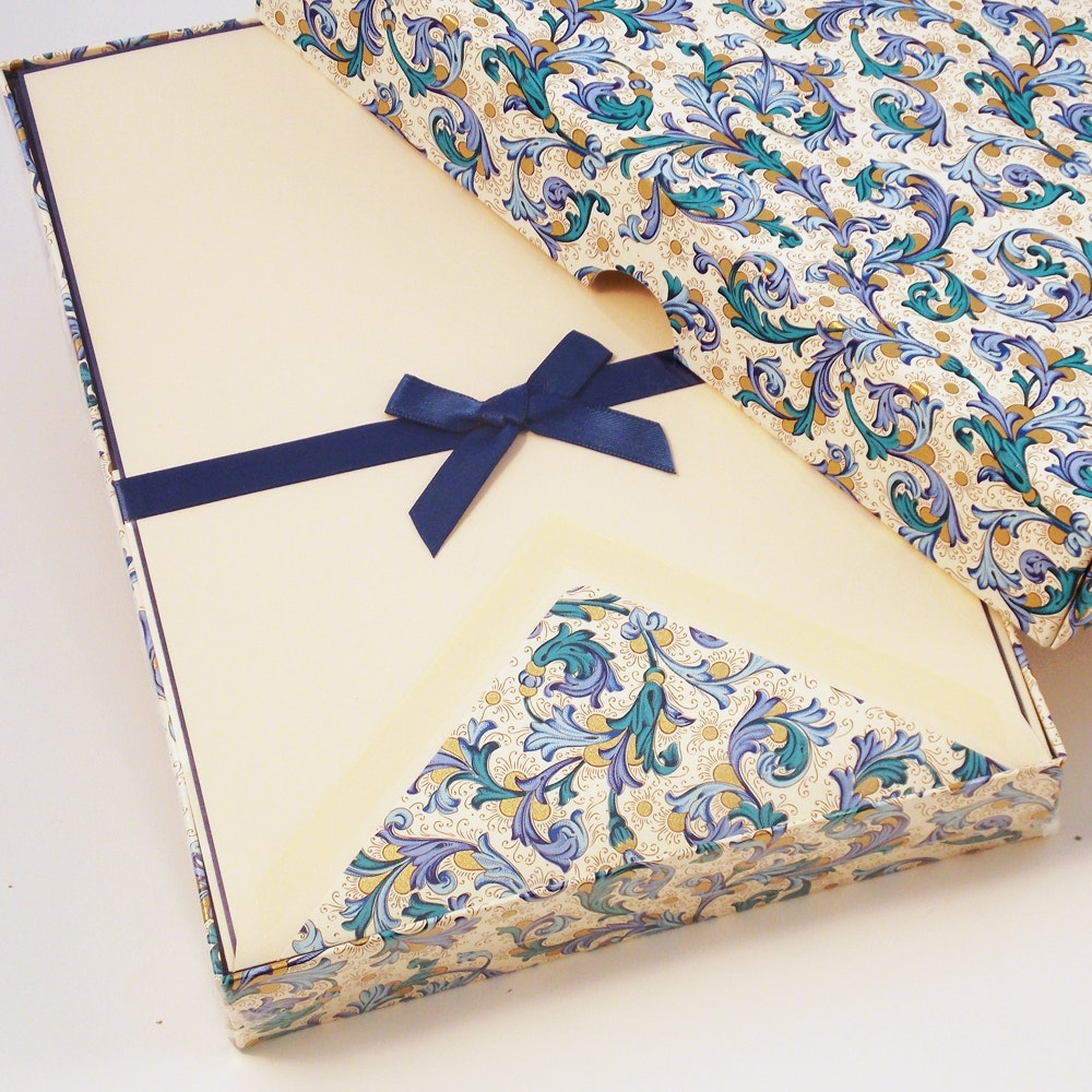 Traditional Blue Florentine - Writing Papers