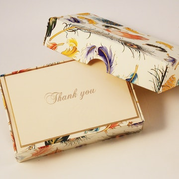 Feathers - Thank You Cards