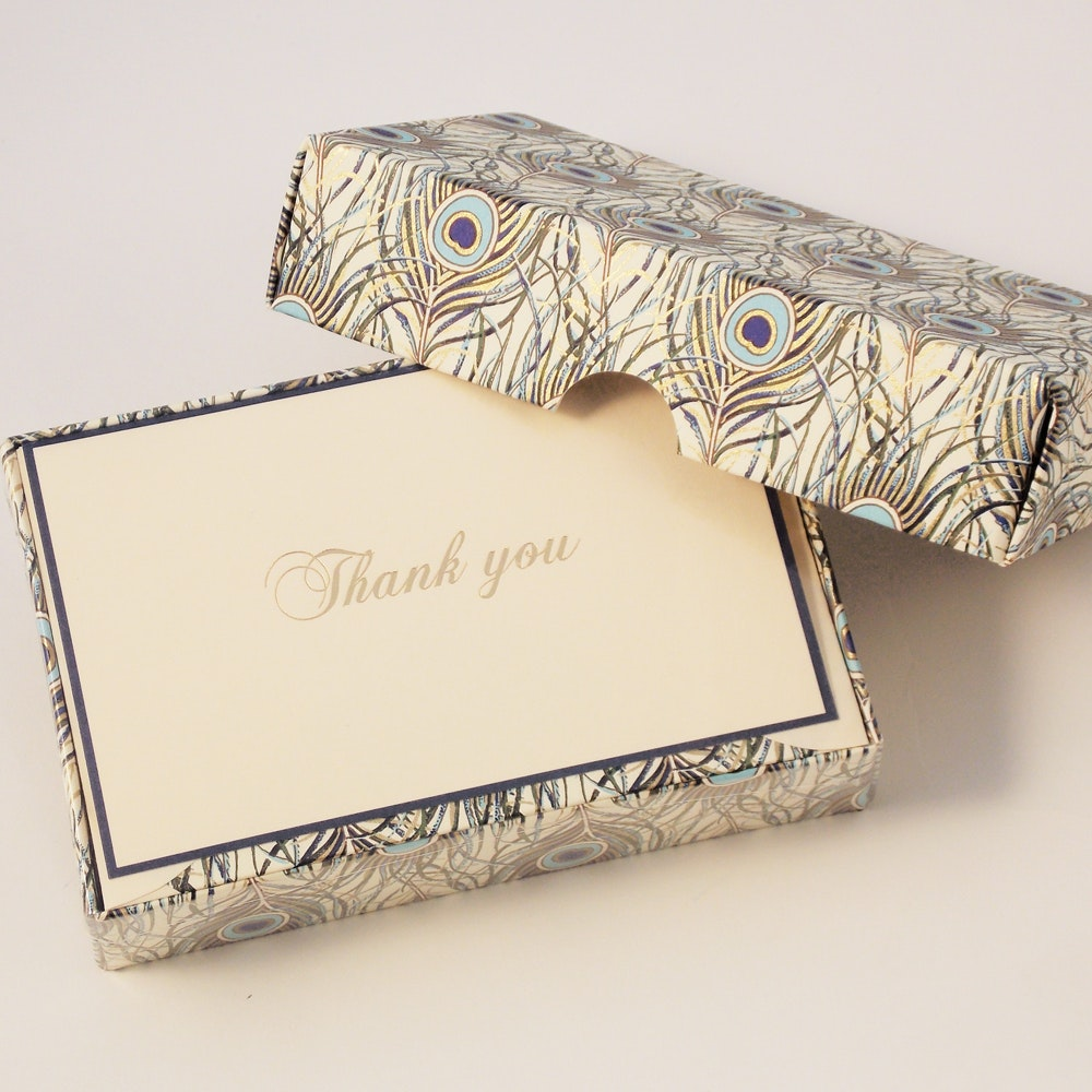 Peacock - Thank You Cards