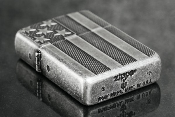 Zippo Lighter American Flag Antique Silverplate Price