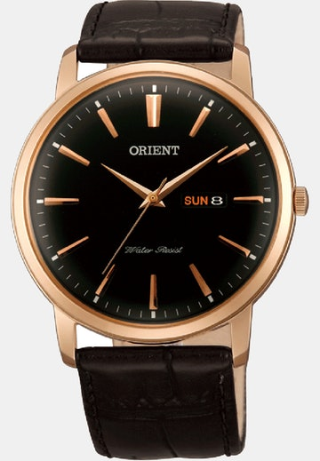Rose Gold Tone / Black Dial (+$10)