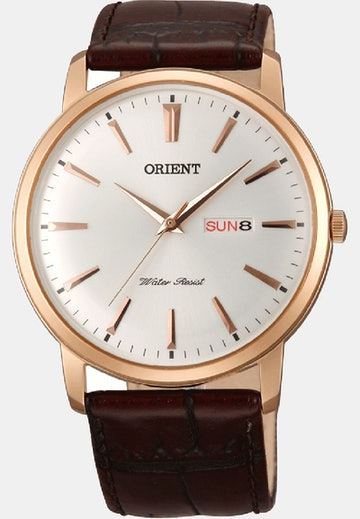 Rose Gold Tone / White Dial (+$10)