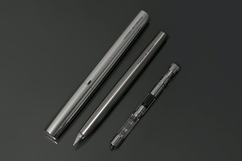 Porsche Designs P'3135 Solid Titanium & Gold Pens