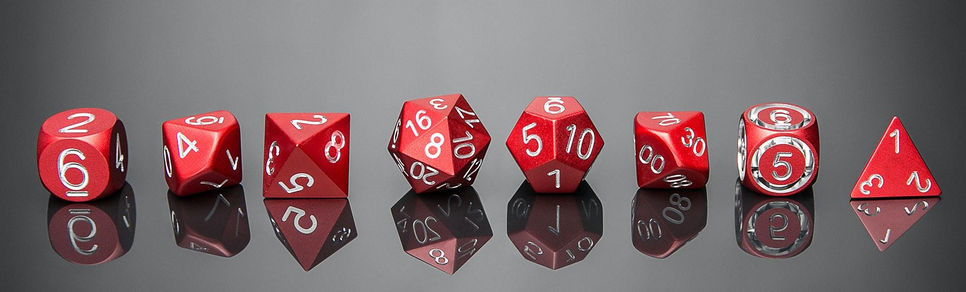 Precision Metal Polyhedral Dice Set