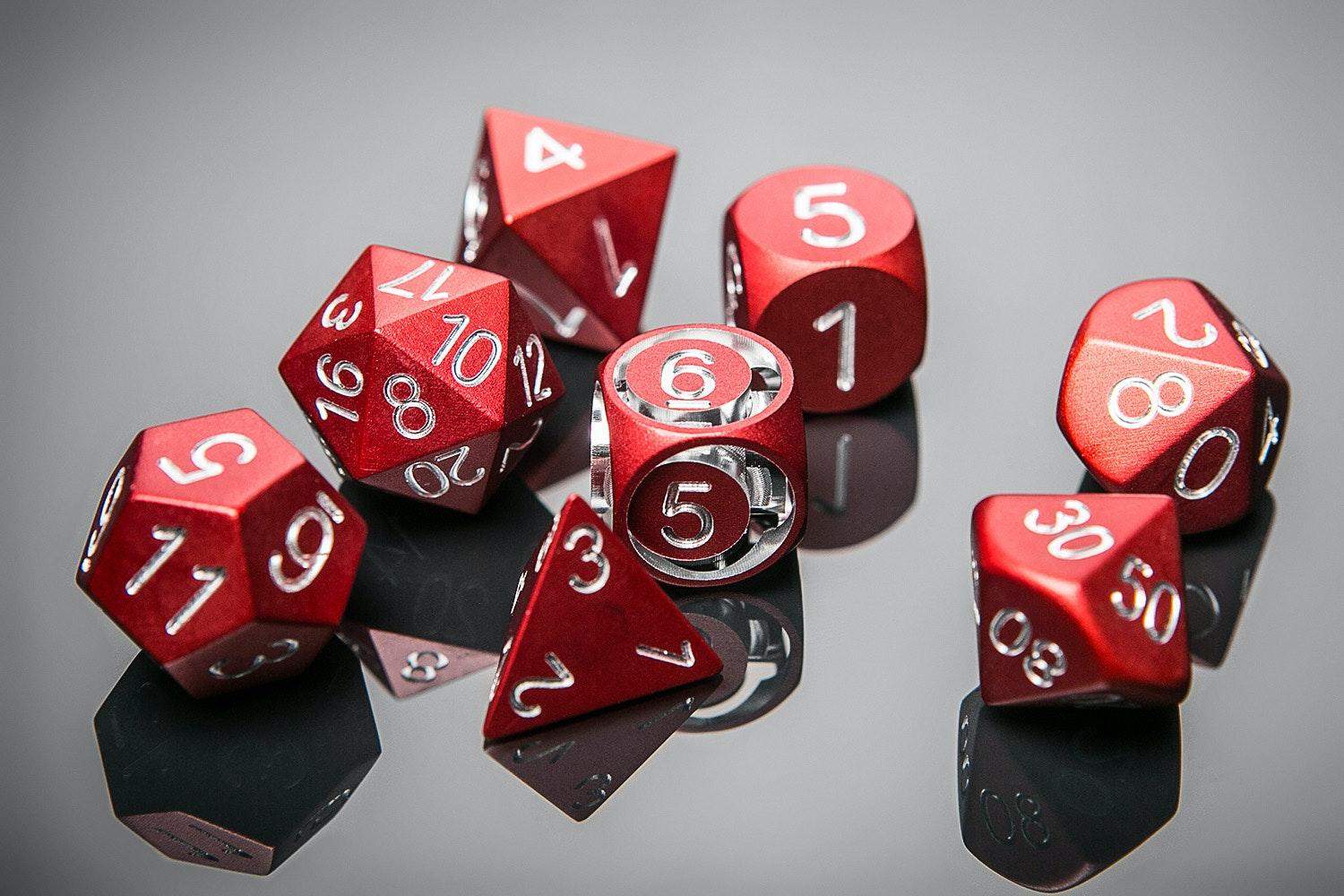 Precision Metal Polyhedral Dice Set
