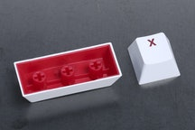 White Keycap / Red Font