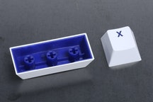 White Keycap / Blue Font