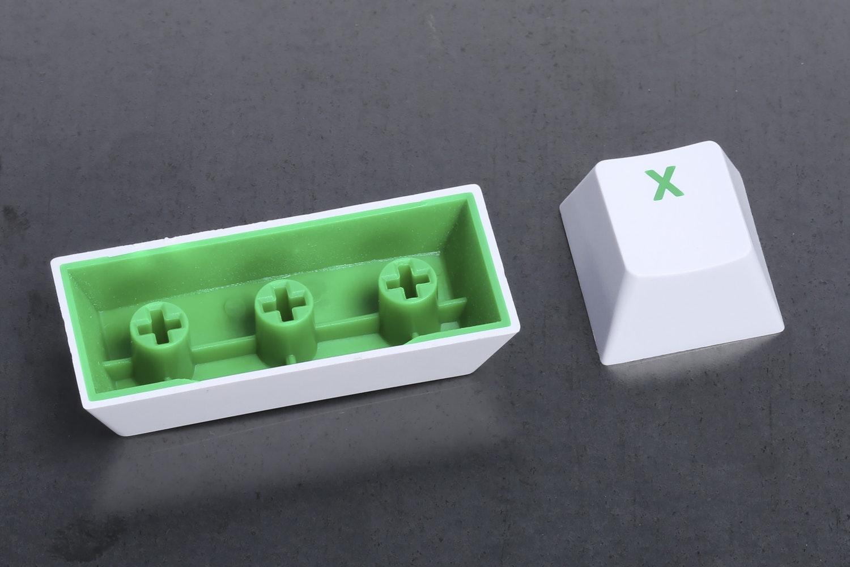 White Keycap / Green Font