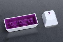 White Keycap / Purple Font