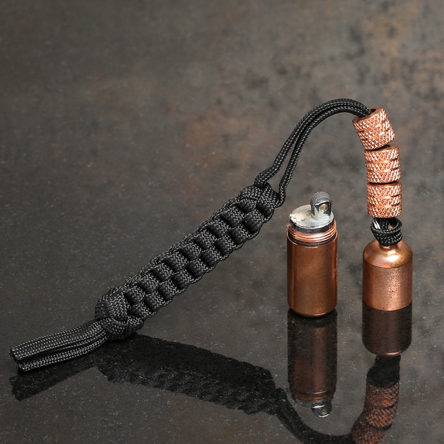 Maratac Copper Peanut Lighter Lanyard