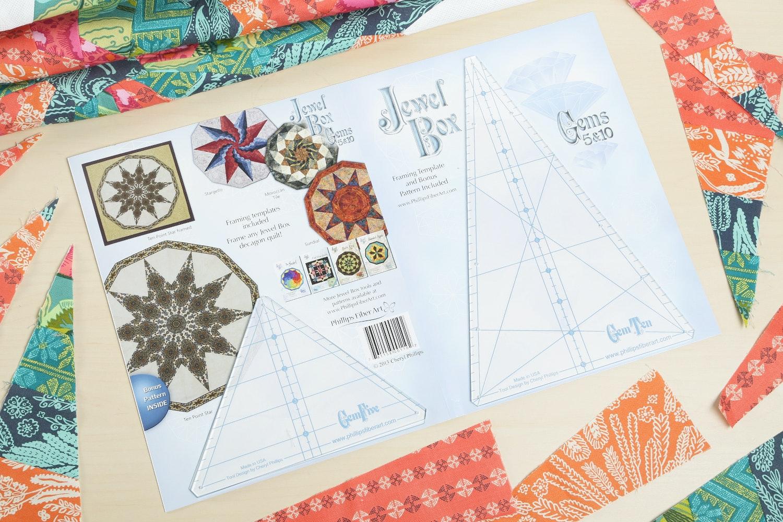 Jewel Box Gems Five and Ten Template Set with Free Bonus Pattern