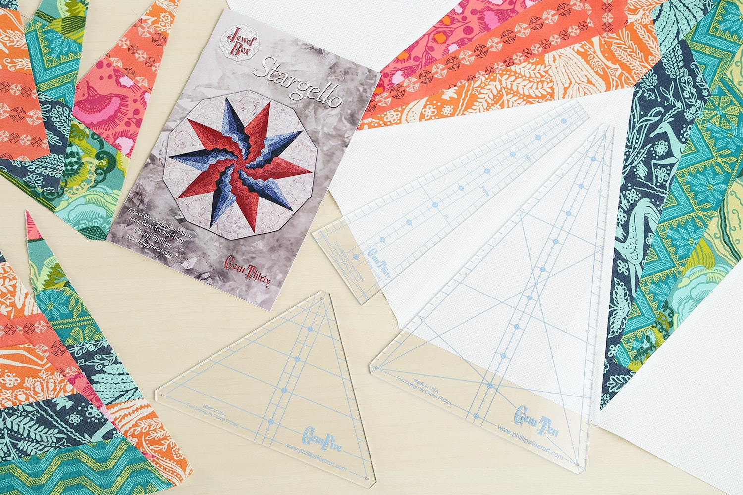 Stargello Quilt Pattern and Ruler Bundle