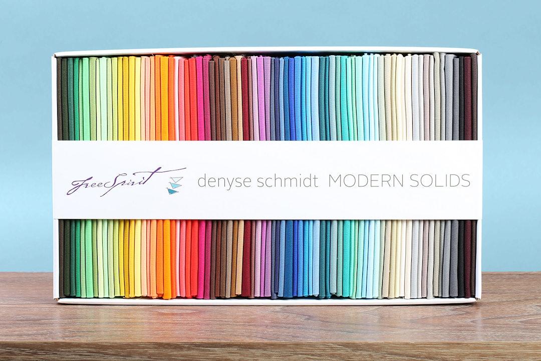 Modern Solids by Denyse Schmidt Fat Quarter Box Set