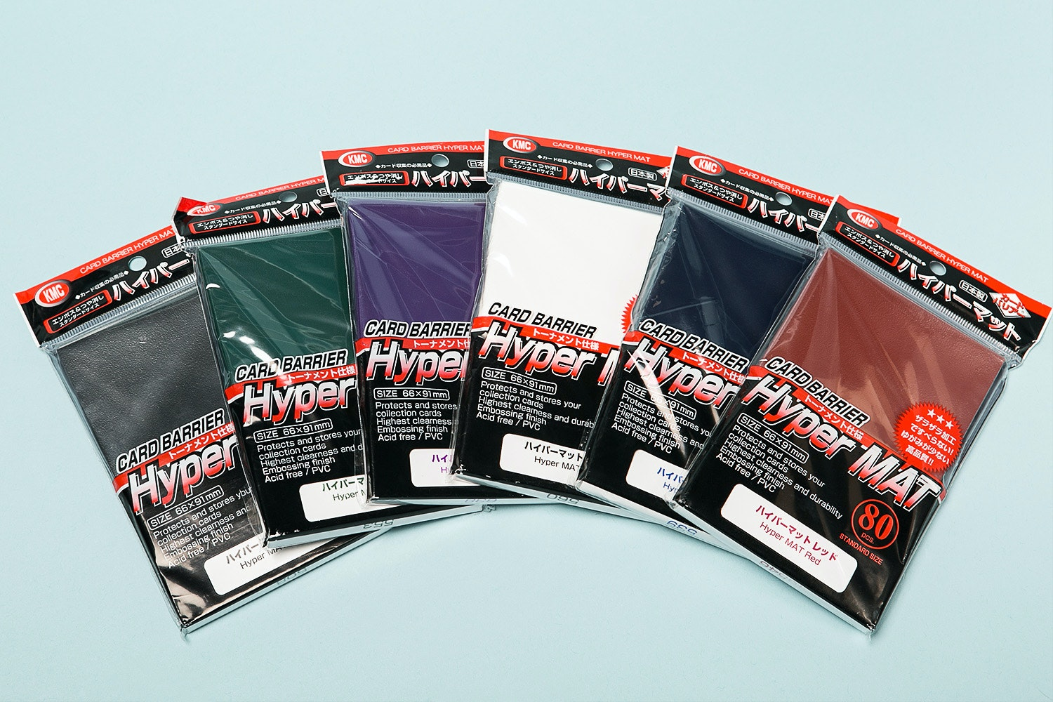 KMC Hyper Mat Sleeves 80ct (6-Pack)