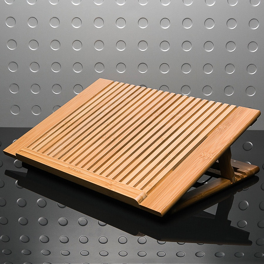 Macally Bamboo Laptop Cooling Stand