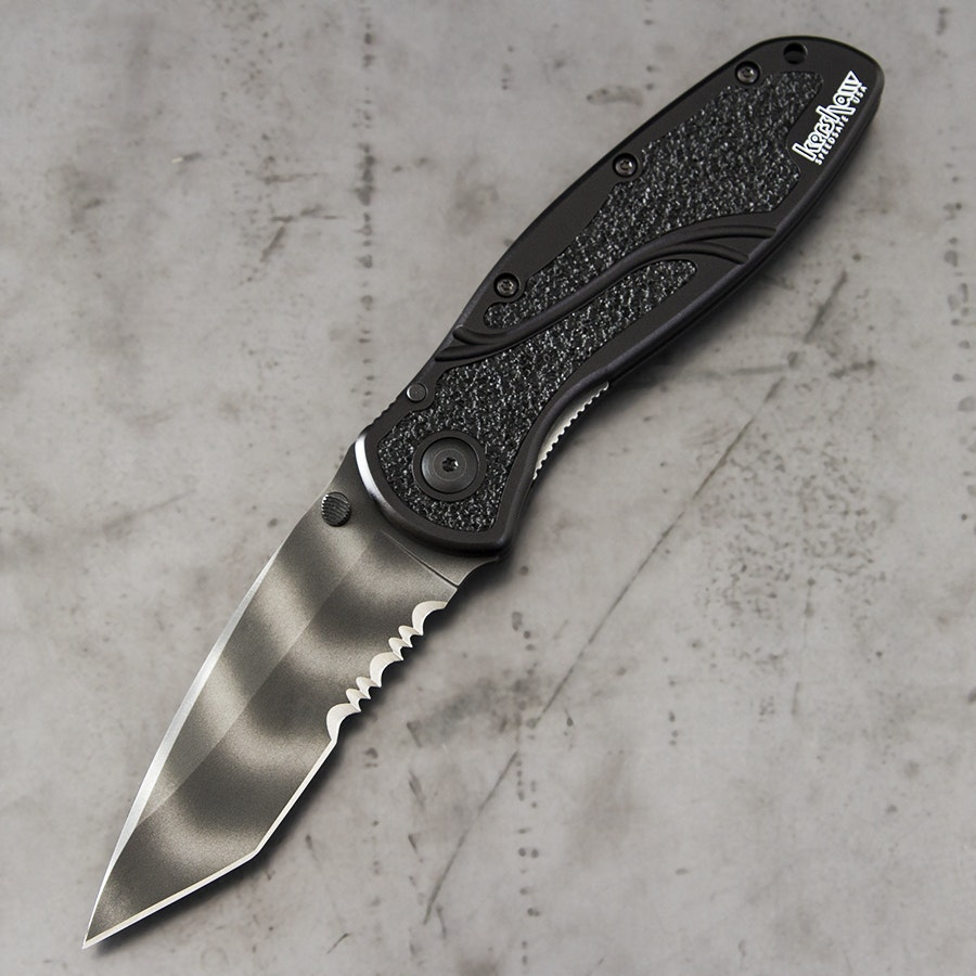 Kershaw Tiger Stripe Blur Knife