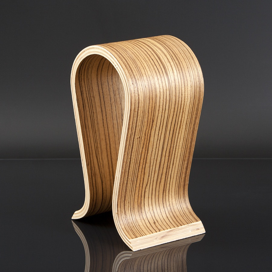 Wood Omega Style Headphone Stand