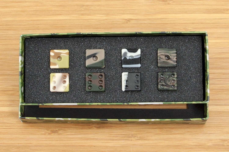 Amber Rix Acrylic Dice (2-Pack)