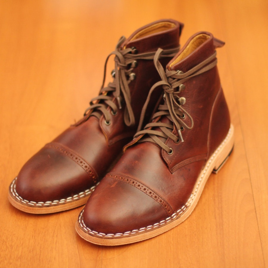 Chevalier Captoe Brown Chromexcel Boot
