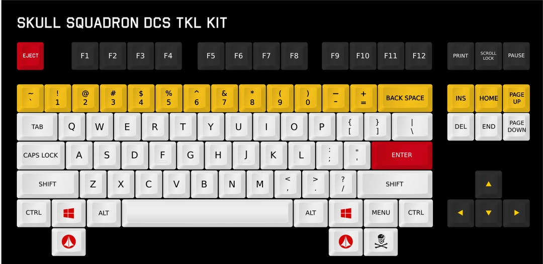 DCS Skull Squadron Keycap Set