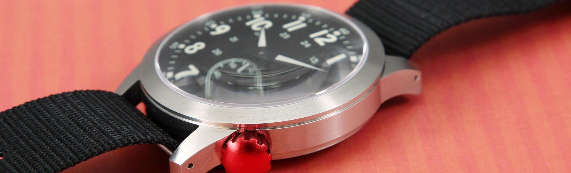 Maratac Large Pilot Red Crown Watch