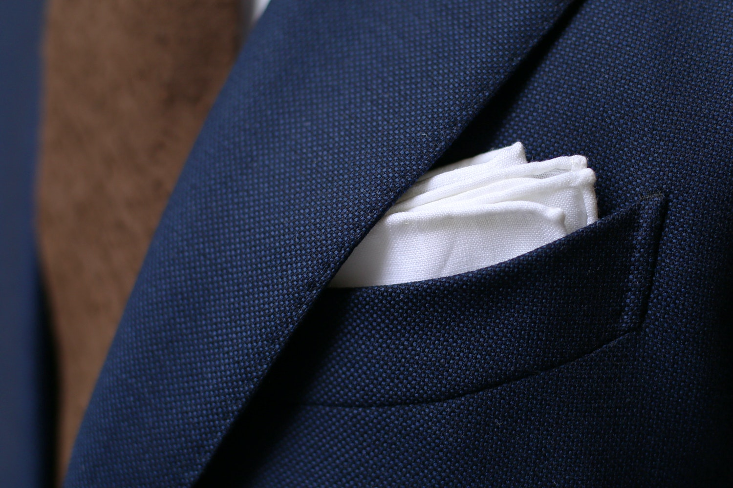 Kent Wang Linen Pocket Square
