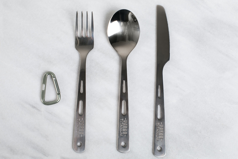 Vargo Titanium Spoon / Fork / Knife Set