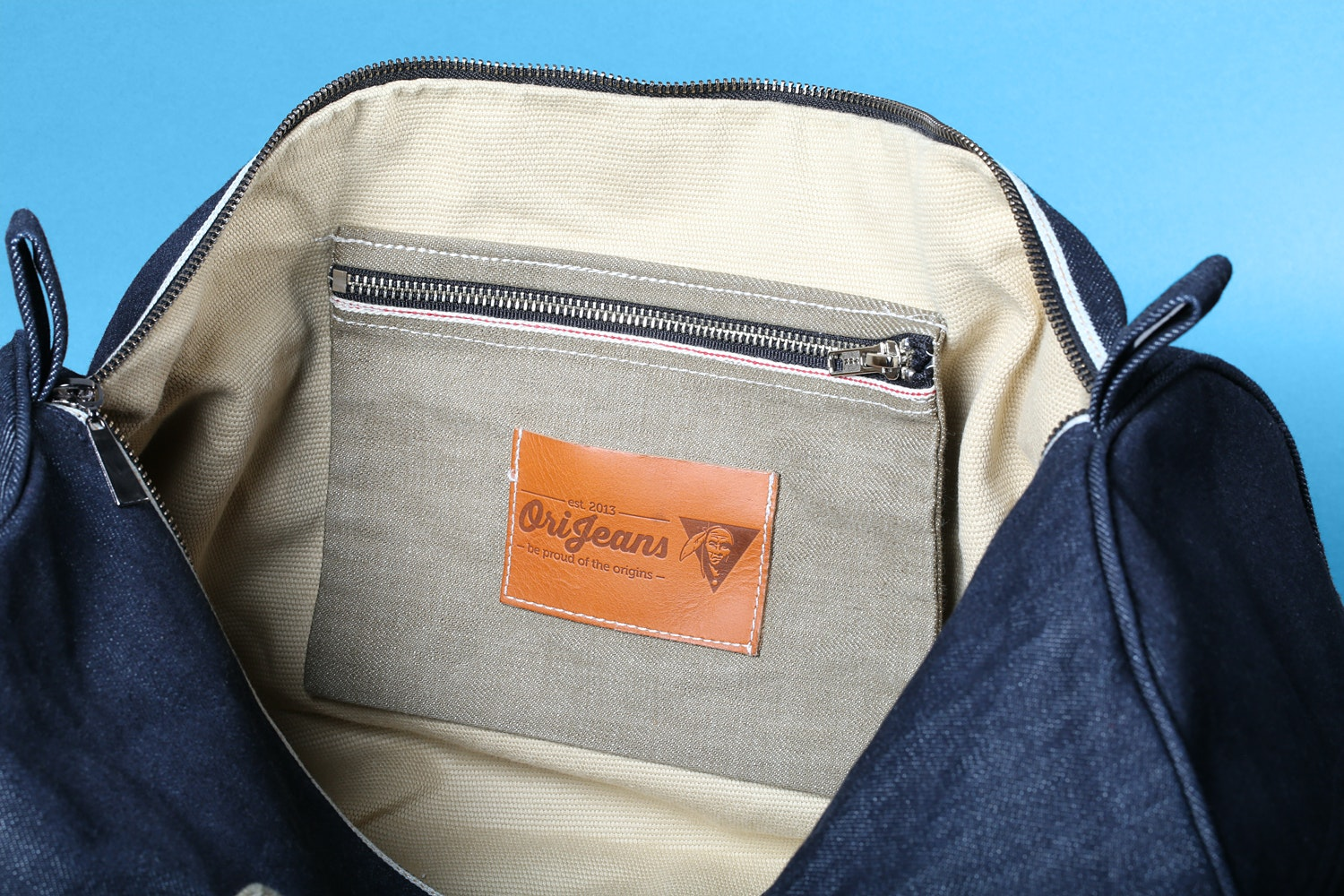 OriJeans Selvage Denim Duffel Bag