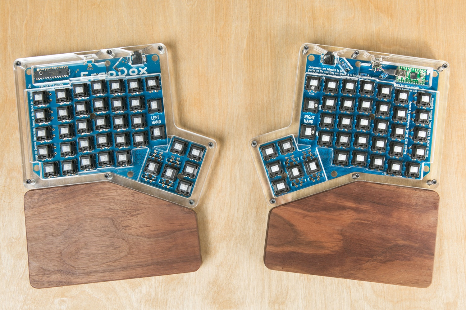 Royal Glam Ergodox Wood Wrist Rest