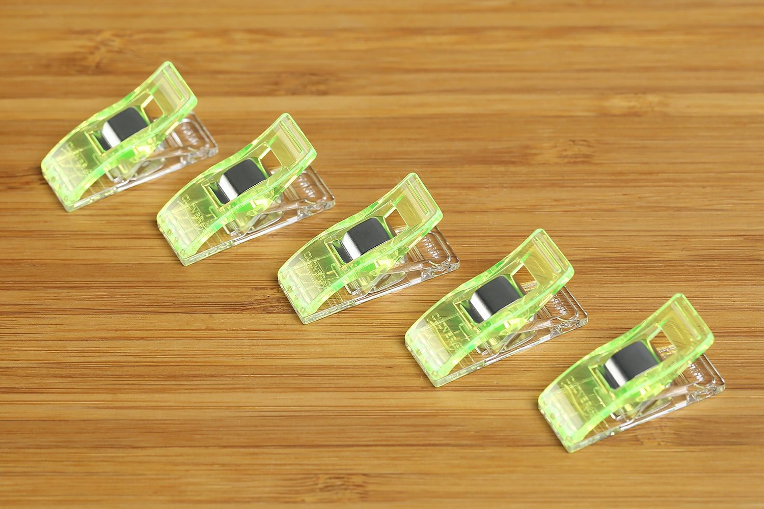 Neon Green Wonder Clips (50-Pack)