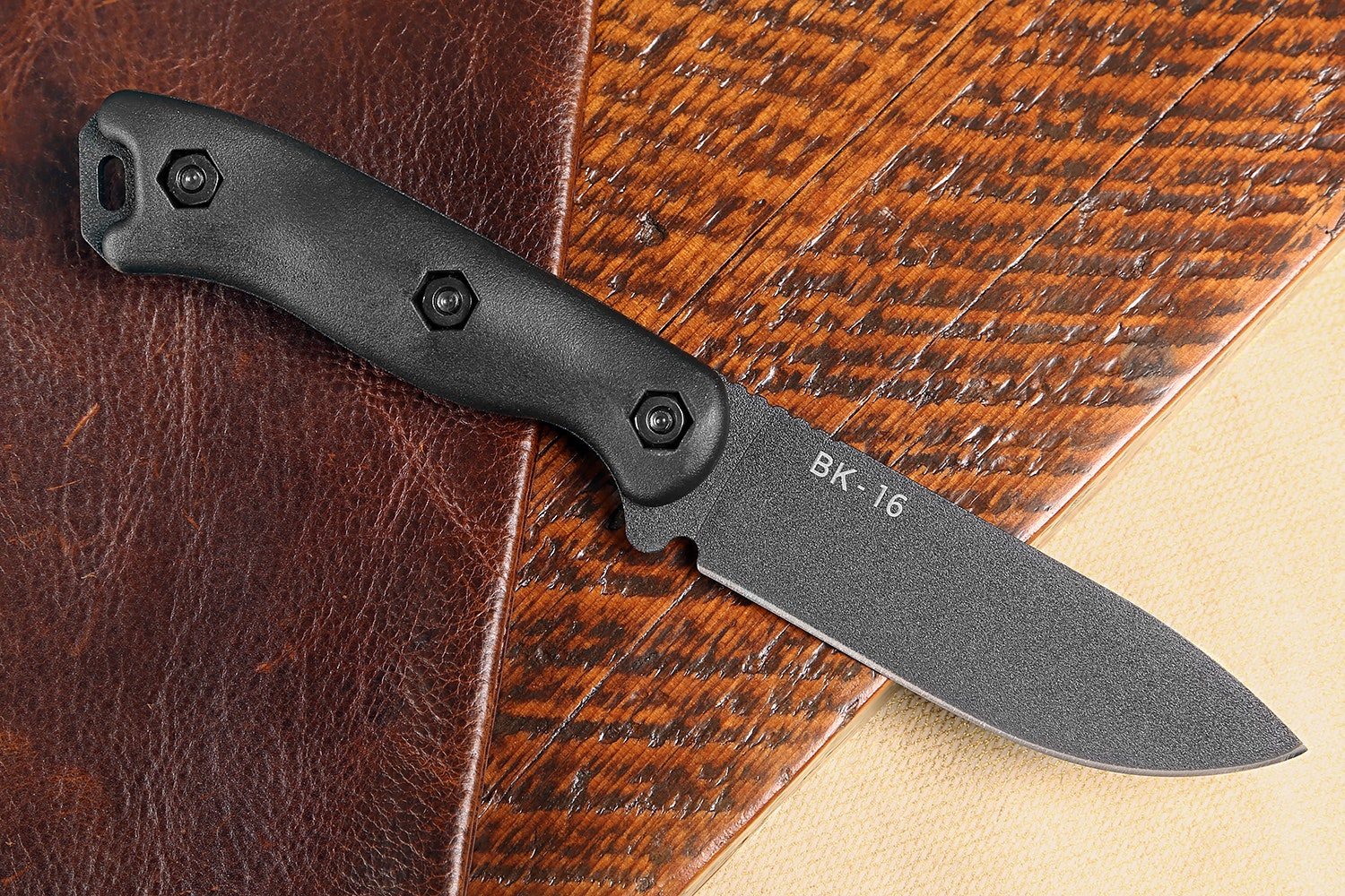 KA-BAR Becker BK16 Short Drop Point Survival Knife