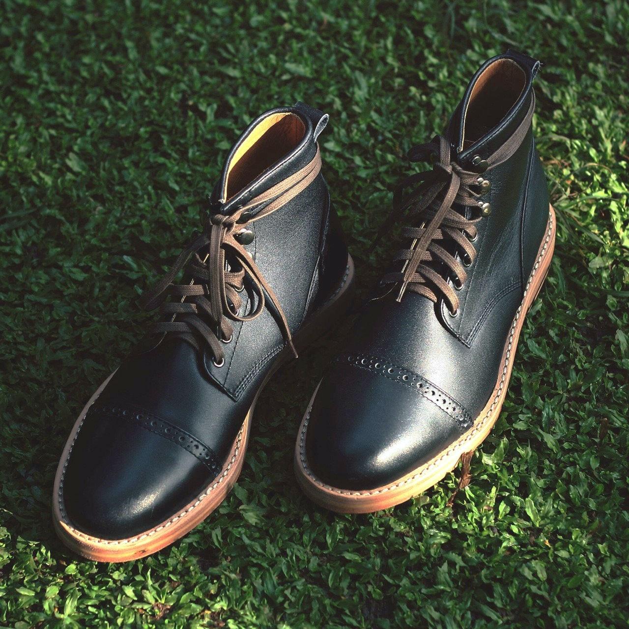 Chevalier Captoe Black Boot