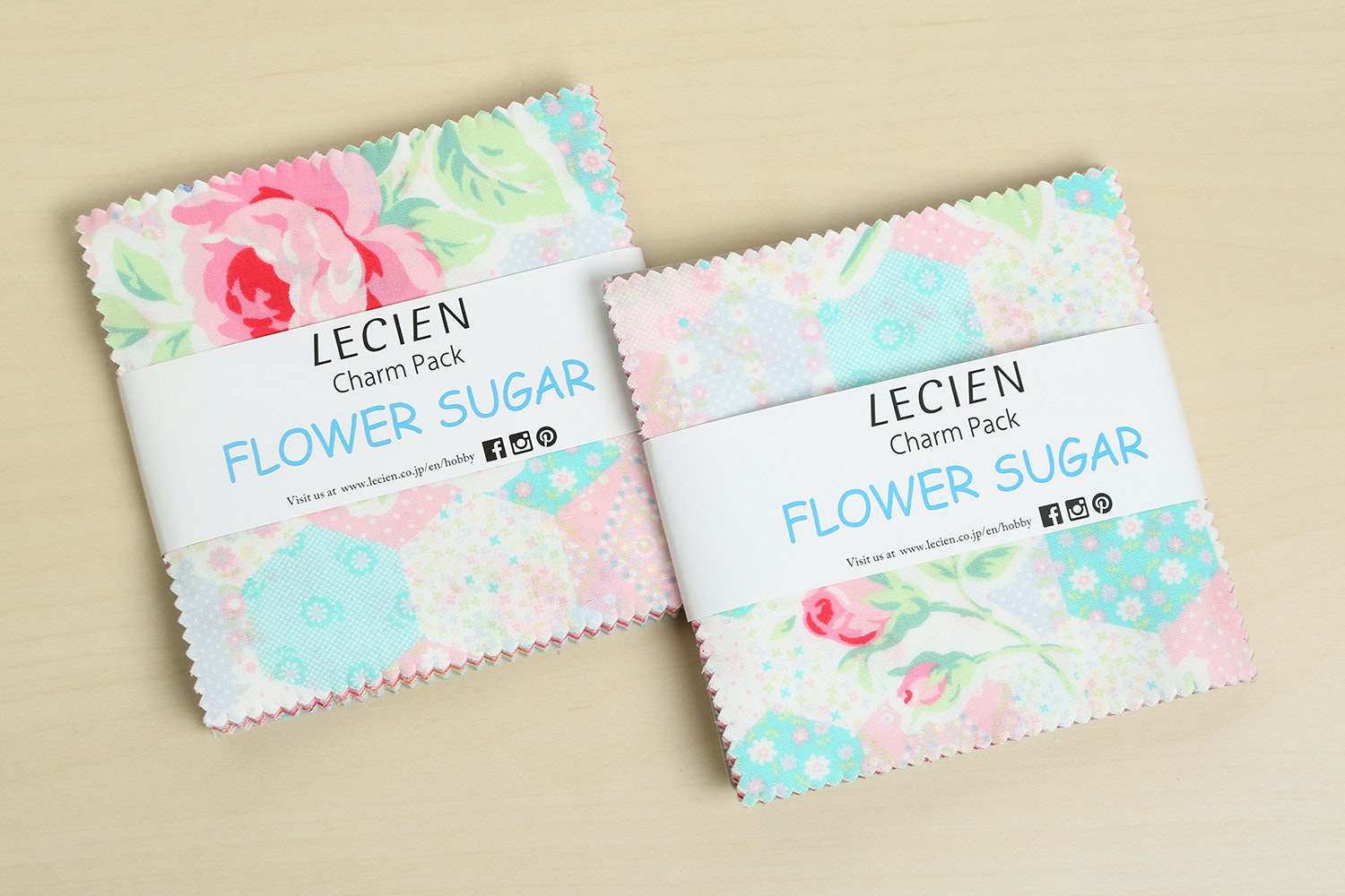 Flower Sugar Spring Charm Squares (2-Pack)