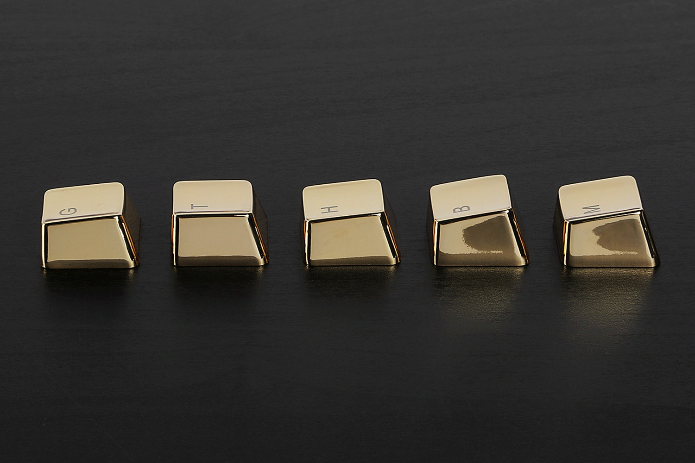 Zinc Gold Tone 37 Keyset