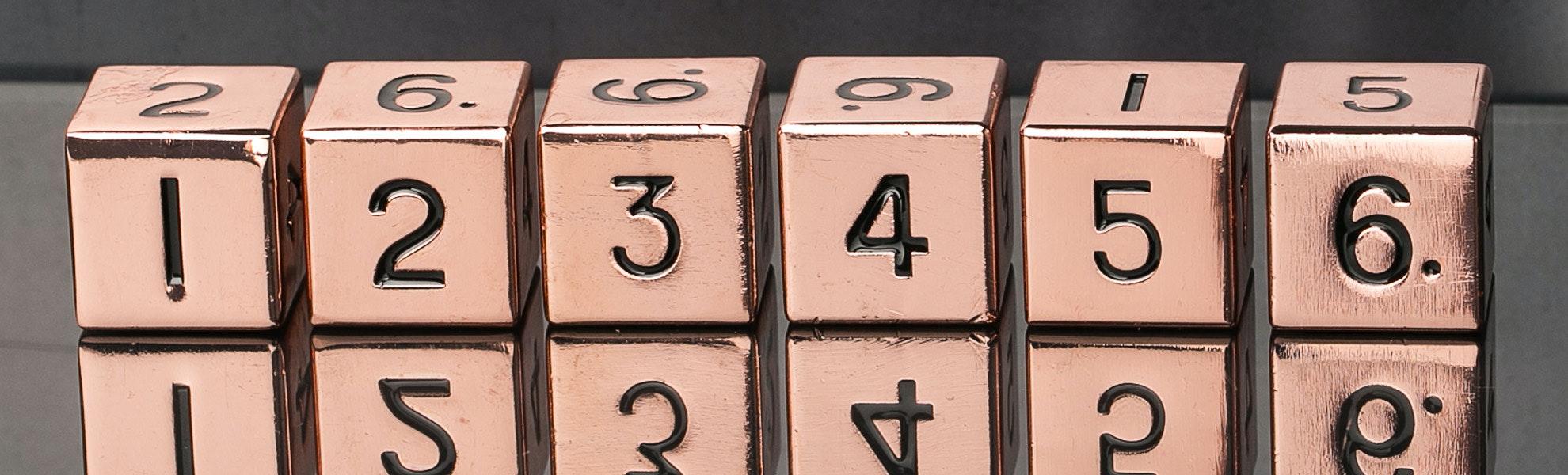 Metallic d6 Set