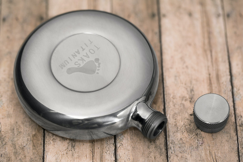 Toaks Titanium Flask and Optional Shot Glasses