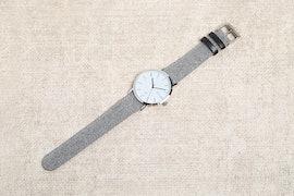 White Dial, Grey Tweed