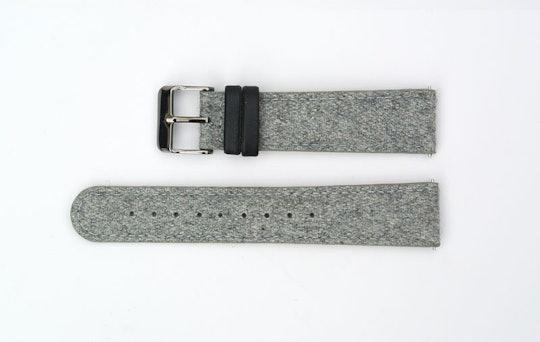 Grey Tweed, Gunmetal Buckle