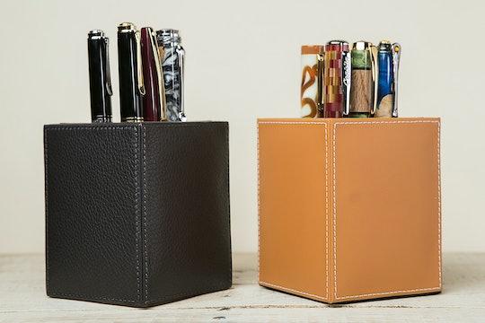Levenger Leather Pen Cup