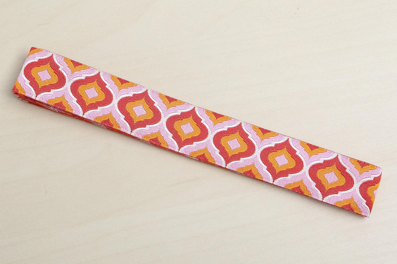 "Orange Blush Lantern by Tula Pink - 7/8"" (28 mm) wide"