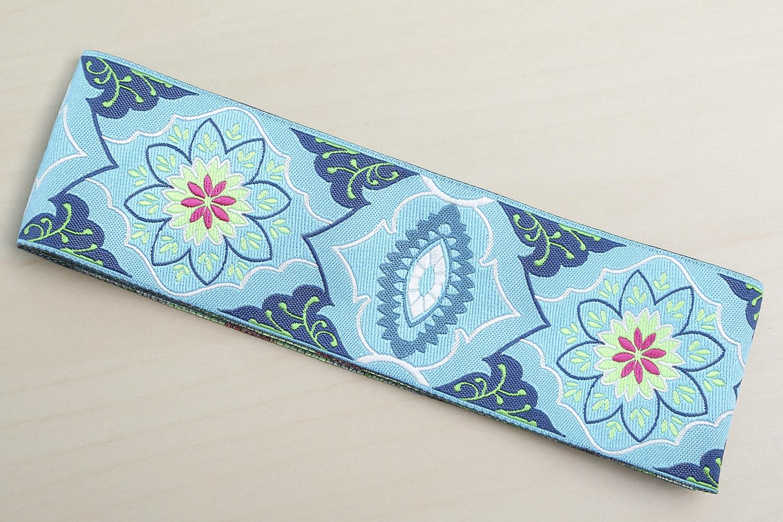 "Blue Belle Brocade by Amy Butler - 1 7/8"" (46 mm) wide (+$1)"