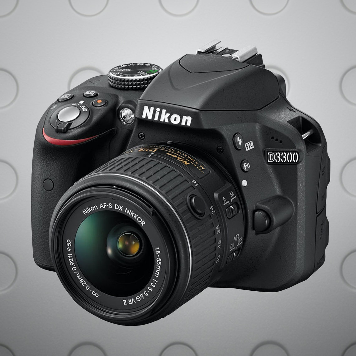 Nikon D3300 DSLR Camera with 18-55mm VRII (Black)