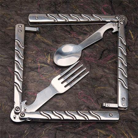 Balisong Trainer Fork and Spoon Set