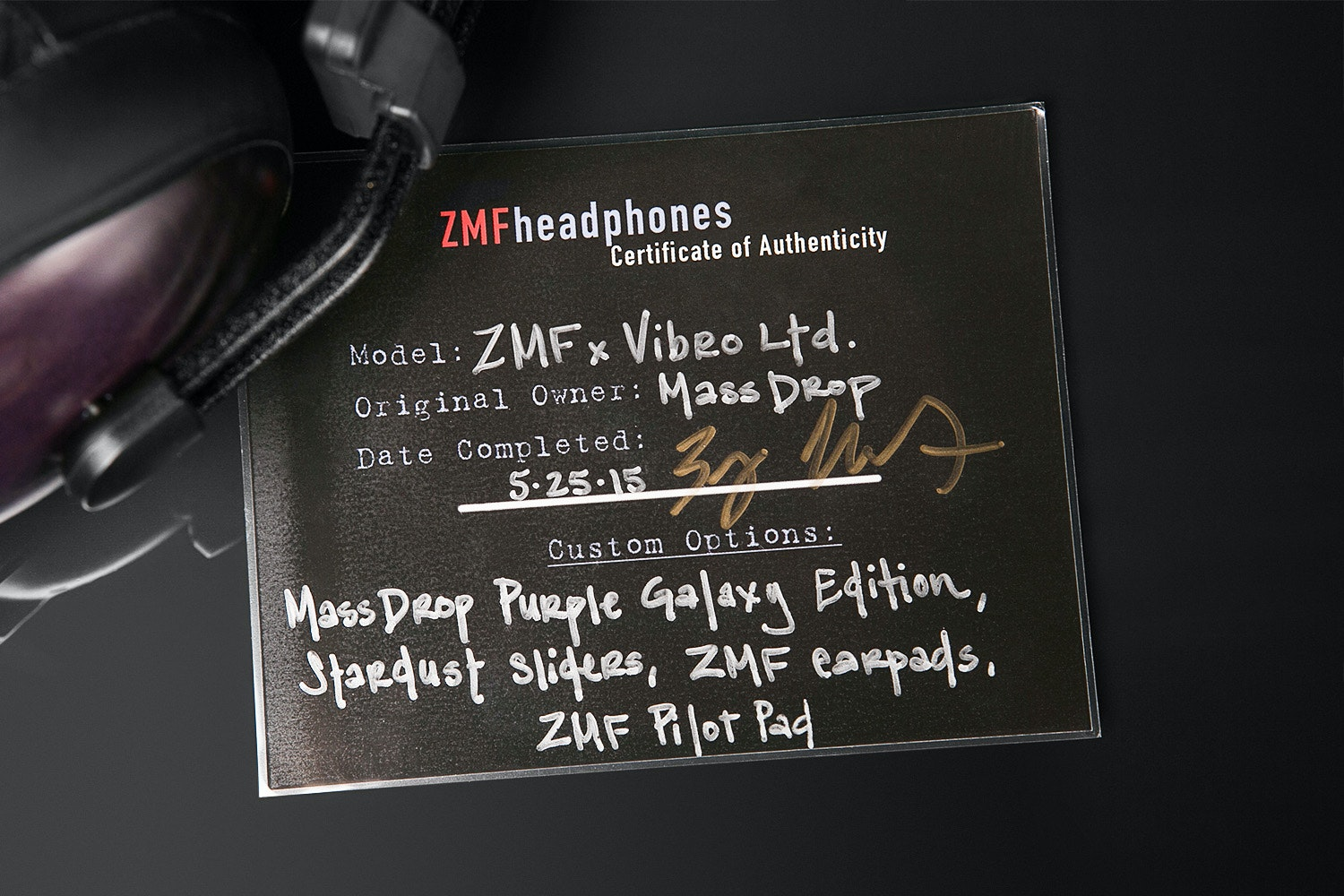 ZMF x Vibro Purple Galaxy Exclusive Headphone