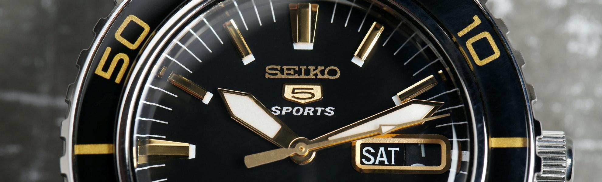"""Seiko """"Fifty Fathoms"""" SNZH Watch"""
