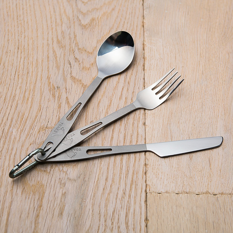 Toaks Titanium Fork, Knife and Spoon (2-pack)